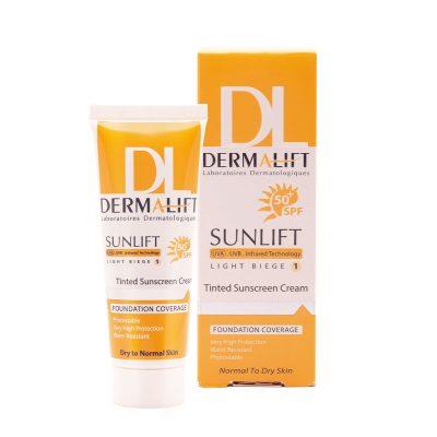 کرم ضد آفتاب درمالیفت مناسب پوست خشک بژ روشن