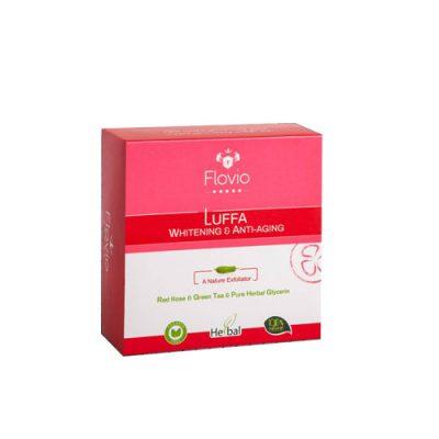 صابون گلیسیرینه لوفا فلویو حاوی گل رز(لایه بردار ملایم) 100 گرم