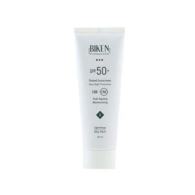 کرم ضدآفتاب پوست خشک رنگی بژ روشن ۱ SPF50 بیکن 50میلی لیتر