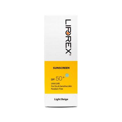 کرم ضد آفتاب لیپورکس SPF50 مدل 01 بژ روشن پوست خشک