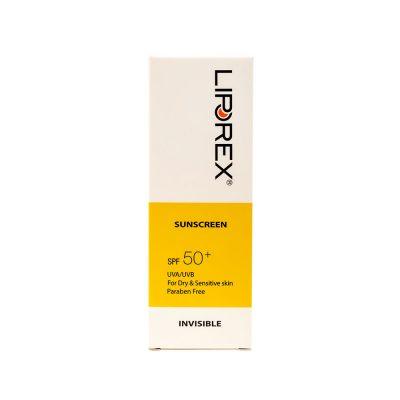 کرم ضد آفتاب لیپورکس SPF50 مدل بی رنگ پوست خشک
